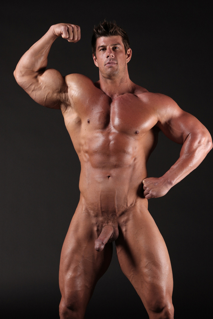 Body building nude model